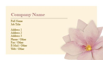 Yellow and Pink Flower Business Card Template